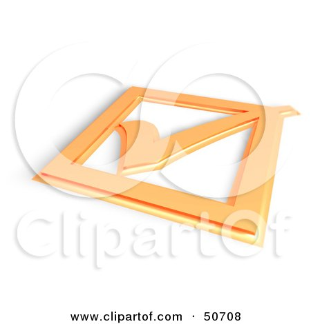 Royalty-Free (RF) Clipart Illustration of a 3d Orange Tick Mark On A Box by MacX