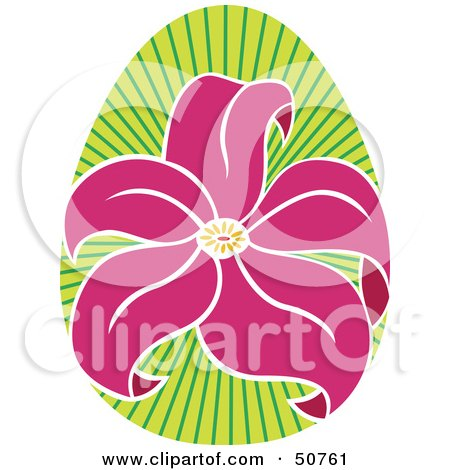 Royalty-Free (RF) Clipart Illustration of a Pretty Floral Design Element - Version 4 by Cherie Reve