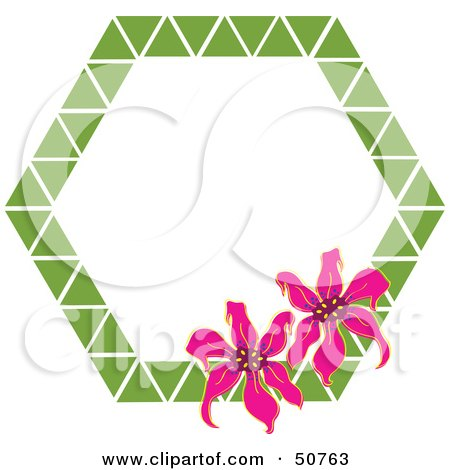 Royalty-Free (RF) Clipart Illustration of a Floral Frame - Version 2 by Cherie Reve
