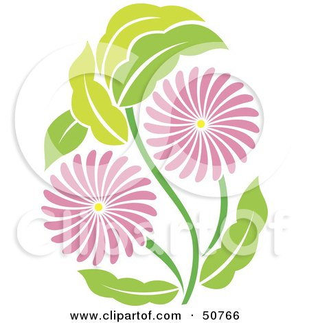 Royalty-Free (RF) Clipart Illustration of a Pretty Floral Design Element - Version 5 by Cherie Reve