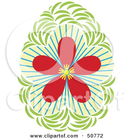 Royalty-Free (RF) Clipart Illustration of a Pretty Floral Design Element - Version 2 by Cherie Reve