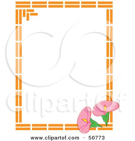 Royalty-Free (RF) Clipart Illustration of a Floral Frame - Version 3 by Cherie Reve