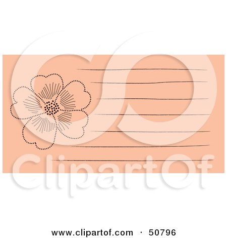 Royalty-Free (RF) Clipart Illustration of a Floral Notepad Design With Lines - Version 2 by Cherie Reve