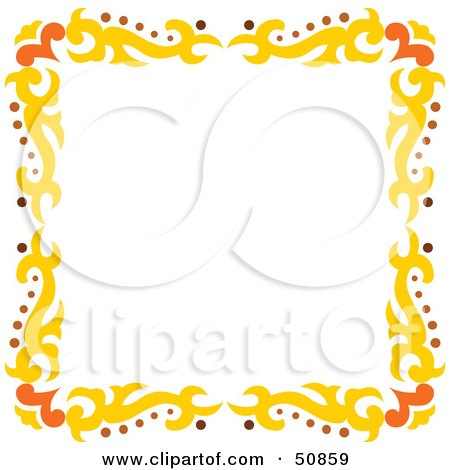 Royalty-Free (RF) Clipart Illustration of a Pretty Deco Frame - Version 7 by Cherie Reve