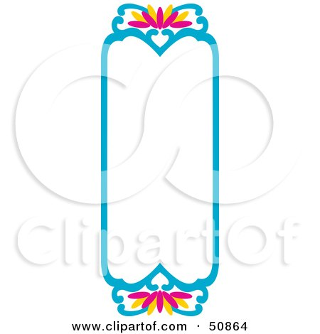 Royalty-Free (RF) Clipart Illustration of a Pretty Deco Frame - Version 1 by Cherie Reve