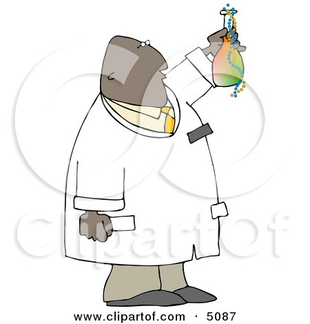 African American Scientist Holding Beaker with Chemicals Posters, Art Prints