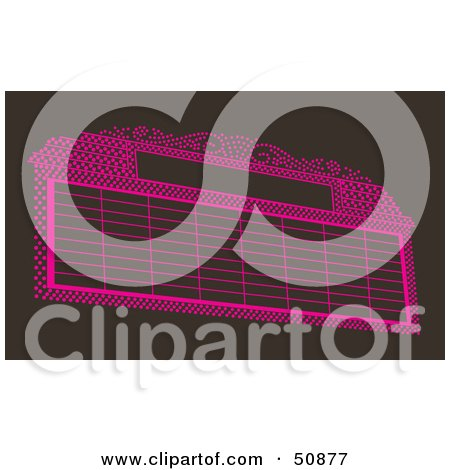Royalty-Free (RF) Clipart Illustration of a Blank Pink Marquee Sign by Cherie Reve