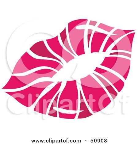 Royalty-Free (RF) Clipart Illustration of Women's Lips - Version 6 by Cherie Reve