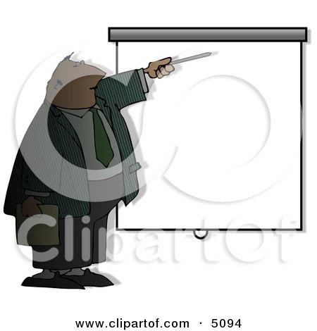 Businessman Giving Slideshow Presentation Posters, Art Prints