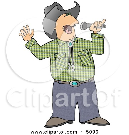 Cowboy Singing Country Music Clipart by djart