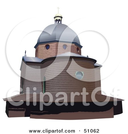 Royalty-Free (RF) Clipart Illustration of a Church Exterior - Version 2 by dero