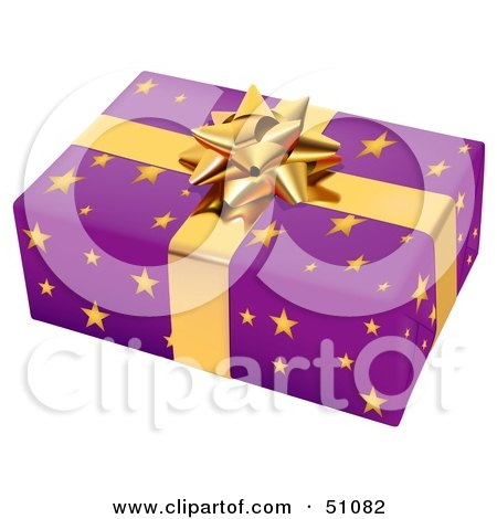 Royalty-Free (RF) Clipart Illustration of a Wrapped Present Box - Version 4 by dero