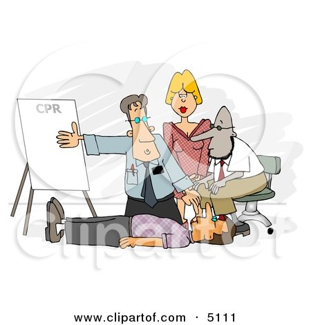 Doctor Teaching CPR to Medical Employees Posters, Art Prints