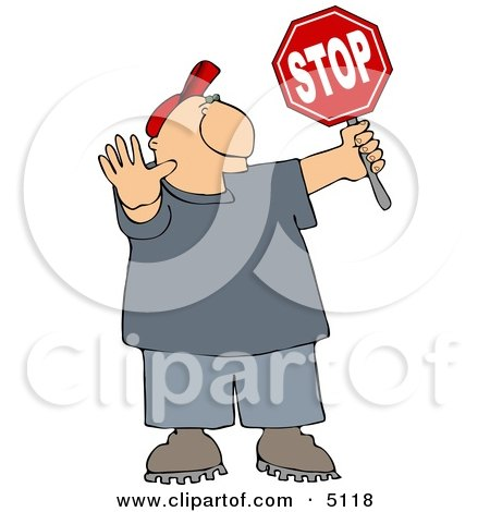 Cross Guard Man Stopping Traffic so Pedestrians Can Cross the Street Posters, Art Prints