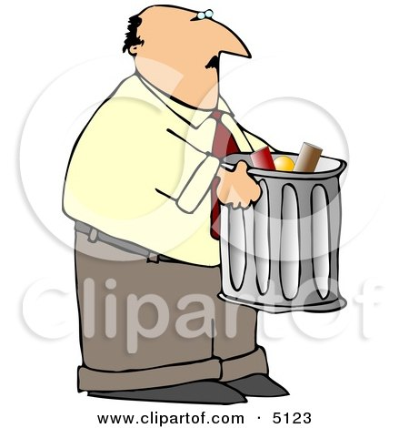 Man Talking Out Garbage Clipart by djart