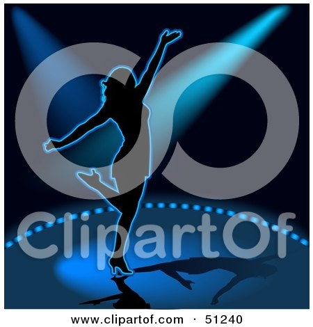 Royalty-Free (RF) Clipart Illustration of a Woman Dancing - Version 4 by dero
