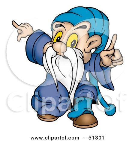 Royalty-Free (RF) Clipart Illustration of a Little Male Gnome - Version 2 by dero