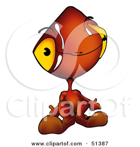 Royalty-Free (RF) Clipart Illustration of an Alien Creature - Version 4 by dero