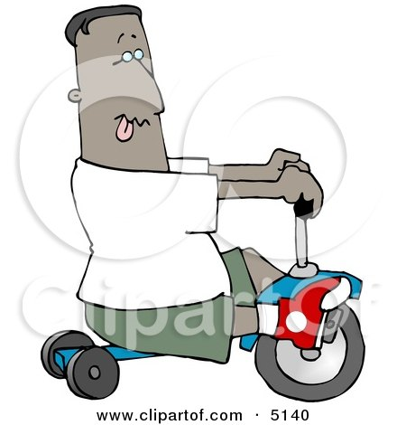 Ethnic Boy Riding a Tricycle Clipart by djart