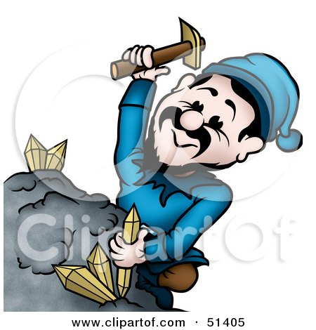 Clipart Illustration of a Mining Sprite - Version 3 by dero