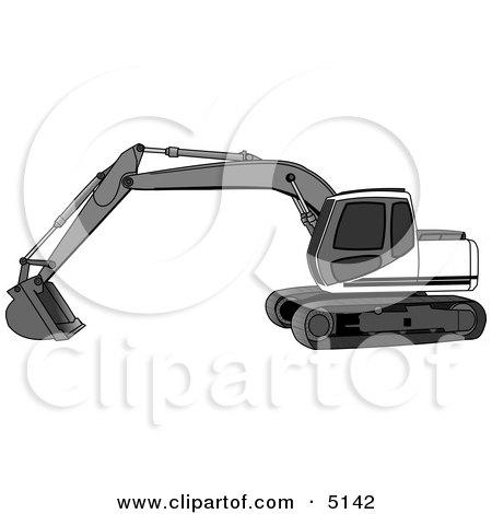 Excavator Clipart by Dennis Cox