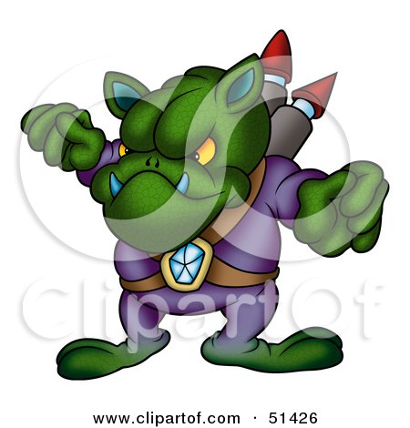 Royalty-Free (RF) Clipart Illustration of an Alien Creature - Version 1 by dero