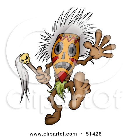 RoyaltyFree RF Clipart Illustration of a Tribal Dancer by dero