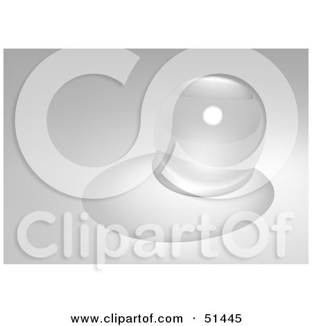Royalty-Free (RF) Clipart Illustration of a Clear Glass Marble With a Shadow by dero