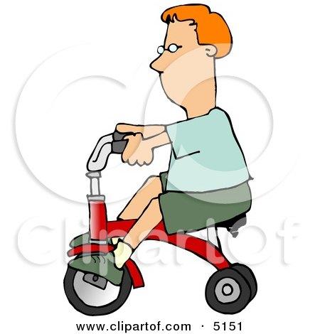 Boy Riding a Tricycle Bike Clipart by djart