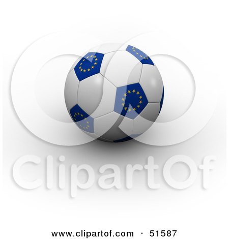 Royalty-Free (RF) Clipart Illustration of a Soccer Ball Resting ...