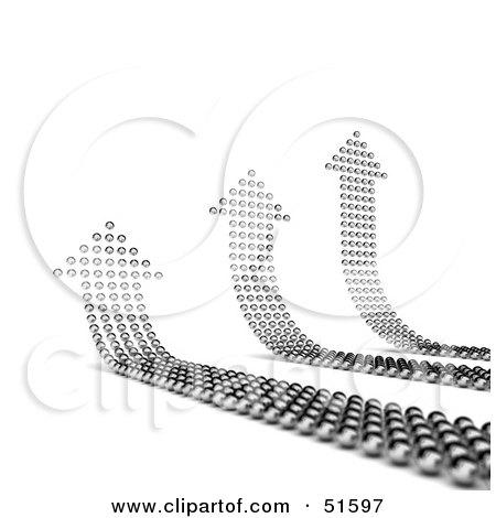 Royalty-Free (RF) Clipart Illustration of Three Upwards Arrows Made of Balls by stockillustrations