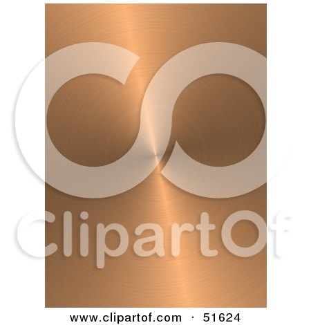 Royalty-Free (RF) Clipart Illustration of a Background of Circular Brushed Copper by stockillustrations