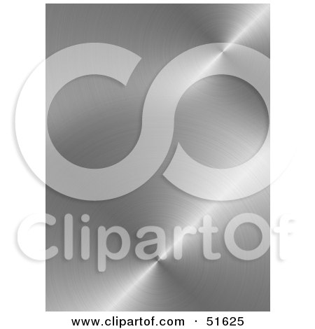 Royalty-Free (RF) Clipart Illustration of a Background of Circular Brushed Metal by stockillustrations