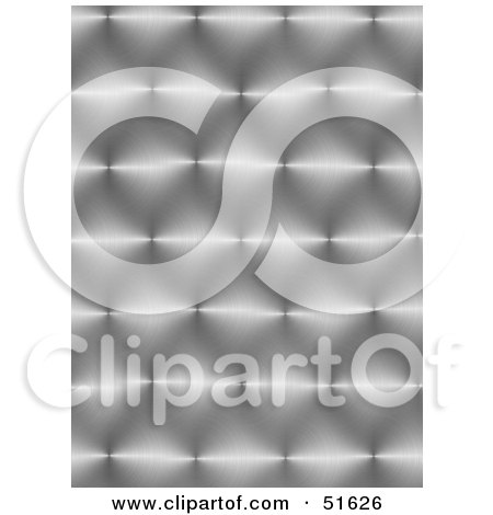 Royalty-Free (RF) Clipart Illustration of a Background of Shiny Textured Metal by stockillustrations