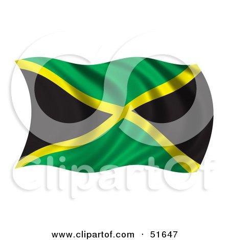 Royalty-Free (RF) Clipart Illustration of a Wavy Jamaica Flag ...