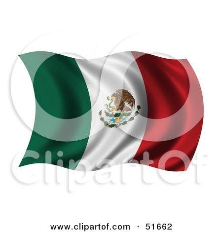 Wavy Mexico Flag Posters, Art Prints