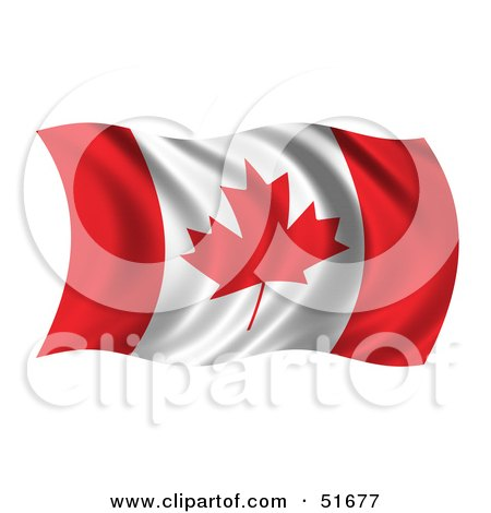 Royalty-Free (RF) Clipart Illustration of a Wavy Canada Flag - Version 1 by stockillustrations