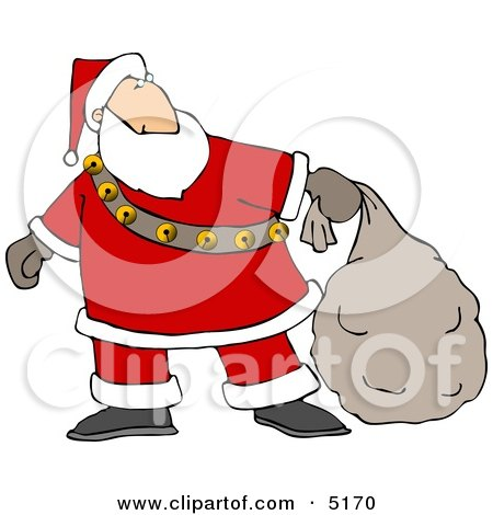 Santa Delivering Christmas Presents Clipart by djart