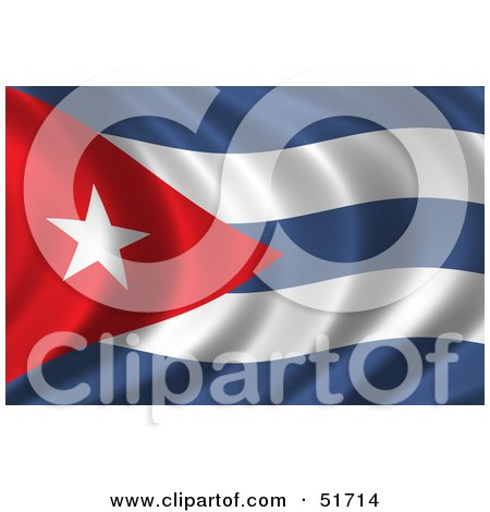 Royalty-Free (RF) Clipart Illustration of a Wavy Cuba Flag - Version 2 by stockillustrations