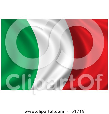 Royalty-Free (RF) Clipart Illustration of a Wavy Italy Flag - Version 1 by stockillustrations