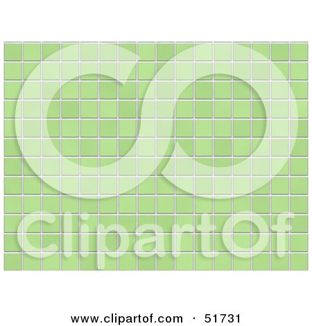 Royalty-Free (RF) Clipart Illustration of a Background of Green Tiles by stockillustrations