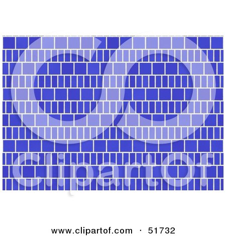 Royalty-Free (RF) Clipart Illustration of a Background of Blue Tiles by stockillustrations