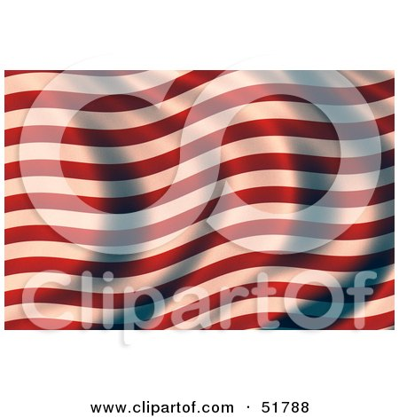 Royalty-Free (RF) Clipart Illustration of a Wavy Red and White Stripe Flag by stockillustrations