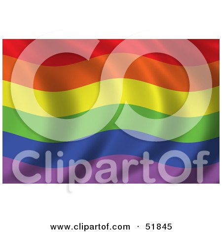 51845 Royalty Free RF Clipart Illustration Of A Wavy Gay Pride Rainbow Flag Texas Gay Campgrounds