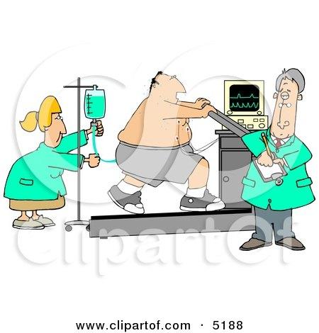 Cartoon Of A Proctologist Doctor With Colonoscopy