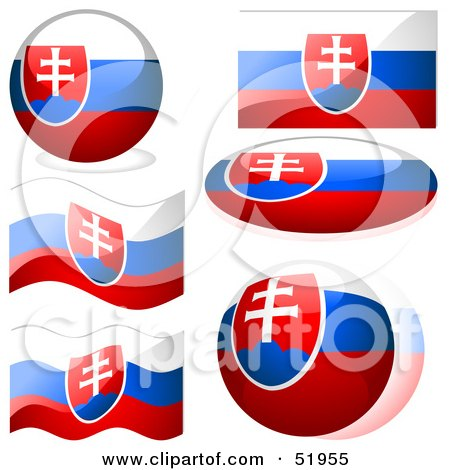 Royalty-Free (RF) Clipart Illustration of a Digital Collage of Slovakia Flag Icons by dero