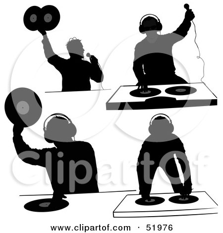 Royalty-Free (RF) Clipart Illustration of a Male DJ - Version 14 ...