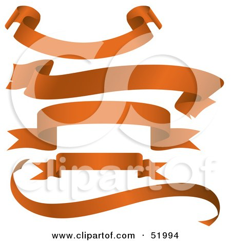 Royalty-Free (RF) Clipart Illustration of a Digital Collage Of Orange Banners - Version 5 by dero