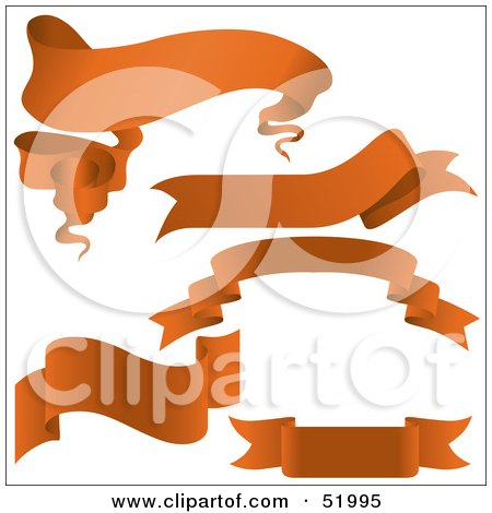 Royalty-Free (RF) Clipart Illustration of a Digital Collage Of Orange Banners - Version 1 by dero