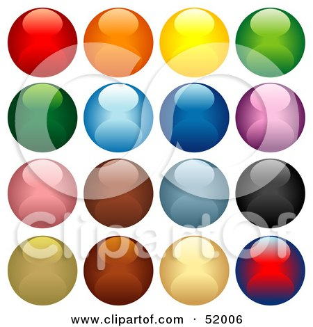 Royalty-Free (RF) Clipart Illustration of a Digital Collage Of Colorful Shiny Spheres by dero